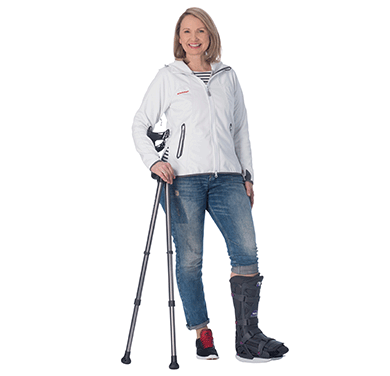 woman wearing Diabetic Boot